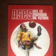 Álbum de fútbol completo: ALBUM COMPLETO ASES DEL IX MUNDIAL DE FUTBOL DISGRA 1970. Lote 223946086