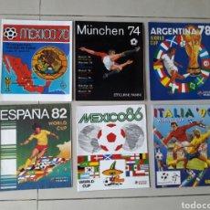Álbum de fútbol completo: COLECCION DE 11 REVISTA ALBUM FUTBOL MUNDIAL PANINI ALBUMES MEXICO 70 A SUDAFRICA 2010. Lote 223981348