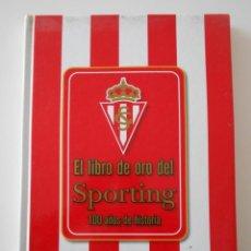 Álbum de fútbol completo: EL LIBRO DE ORO DEL SPORTING. LIBRO CON FOTOGRAFIAS ADHESIVAS. COMPLETO. REAL SPORTING DE GIJON. 100. Lote 224304950
