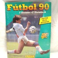 Álbum de fútbol completo: LIGA FUTBOL ESPAÑOLA 90 PRIMERA Y SEGUNDA DIVISÓN, ÁLBUM COMPLETO, BUEN ESTADO, PANINI. Lote 225458332