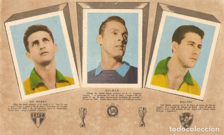 Álbum de fútbol completo: ALBUM CROMOS FACSIMIL BRASIL CAMPEON MUNDIAL DE FUTBOL 1958 BRAZIL STICKER ALBUM COMPLETO NUEVO - Foto 2 - 226130295