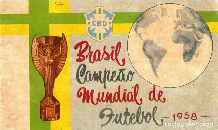 ALBUM CROMOS FACSIMIL BRASIL CAMPEON MUNDIAL DE FUTBOL 1958 BRAZIL STICKER ALBUM COMPLETO NUEVO (Coleccionismo Deportivo - Álbumes y Cromos de Deportes - Álbumes de Fútbol Completos)