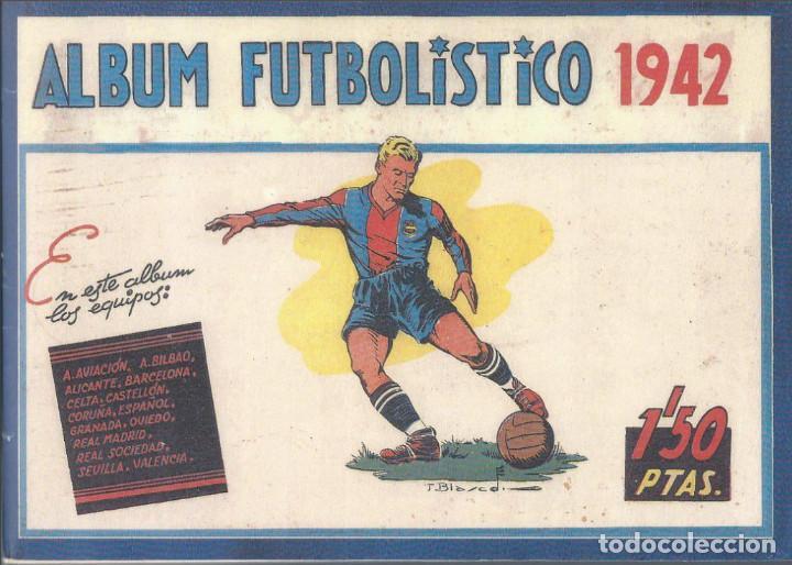 ÁLBUM CROMOS FUTBOL FACSIMIL ALBUM FUTBOLISTICO 1942 1941 CISNE COMPLETO Y NUEVO (Coleccionismo Deportivo - Álbumes y Cromos de Deportes - Álbumes de Fútbol Completos)