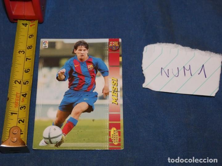 MEGACRACKS 04 LIONEL MESSI ROOKIE CARD #71 BIS MEGA CRACKS 2004 (Coleccionismo Deportivo - Álbumes y Cromos de Deportes - Álbumes de Fútbol Completos)