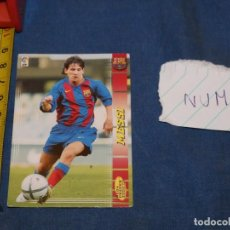 Álbum de fútbol completo: MEGACRACKS 04 LIONEL MESSI ROOKIE CARD #71 BIS MEGA CRACKS 2004. Lote 227510544