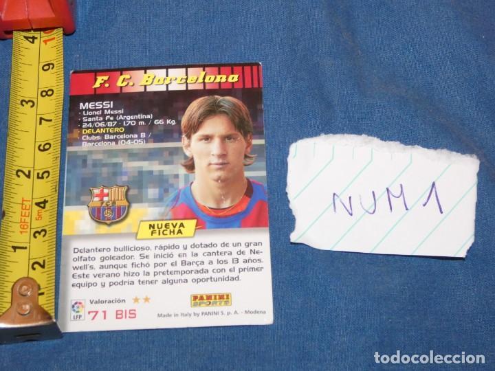 Álbum de fútbol completo: MEGACRACKS 04 LIONEL MESSI ROOKIE CARD #71 BIS MEGA CRACKS 2004 - Foto 2 - 227510544