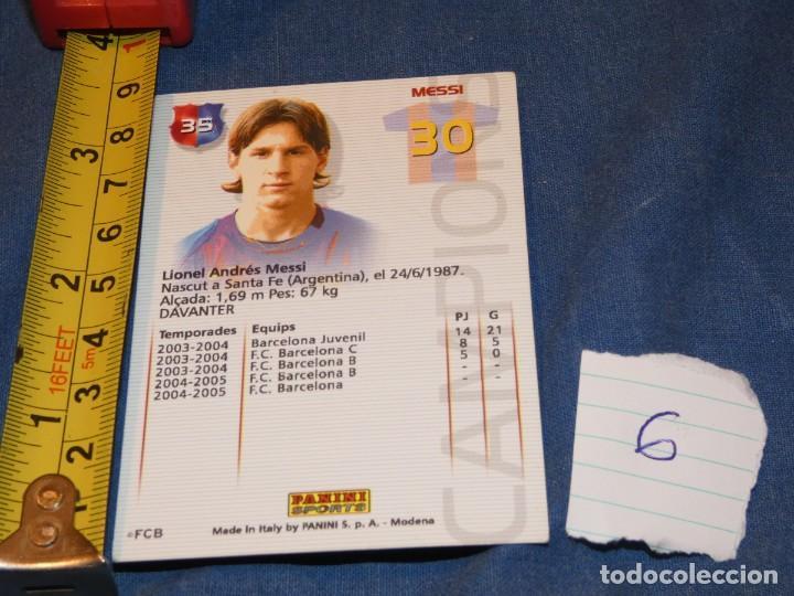 Álbum de fútbol completo: MUY TEMPRANA CARTA MESSI ROOKIE 30 - Foto 2 - 227548025