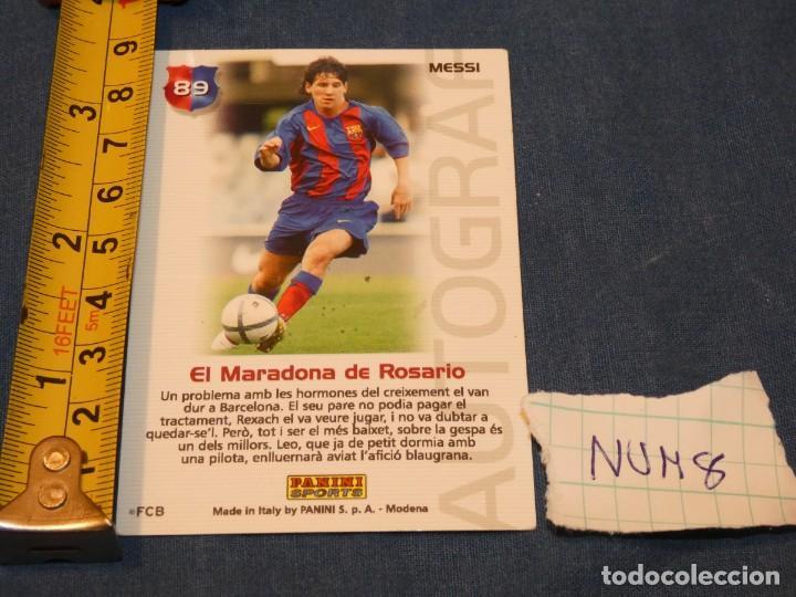 Álbum de fútbol completo: MUY TEMPRANA CARTA MESSI BARÇA CAMPIO 89 - Foto 2 - 227548120