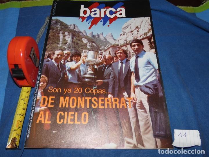 REVISTA BARÇA AÑO 1983 MARADONA EN MONTSERRAT (Coleccionismo Deportivo - Álbumes y Cromos de Deportes - Álbumes de Fútbol Completos)