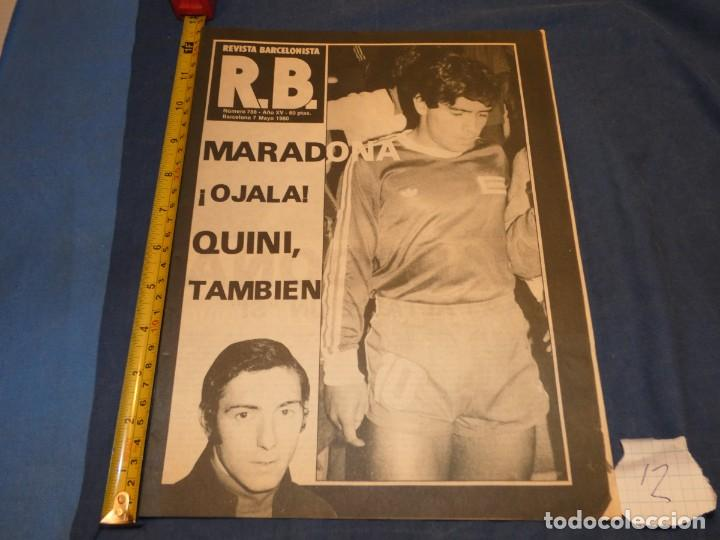 REVISTA BARÇA BARCELONISTA AÑO 1980 OJALA VENGA MARADONA (Coleccionismo Deportivo - Álbumes y Cromos de Deportes - Álbumes de Fútbol Completos)