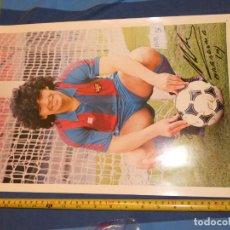 Álbum de fútbol completo: BESTIAL FOTO 44 X 30 DOBLE CARA MARADONA Y EQUIPO BARCA TODO AUTOGRAFIADO PRECIOSO OBJETO. Lote 227549425