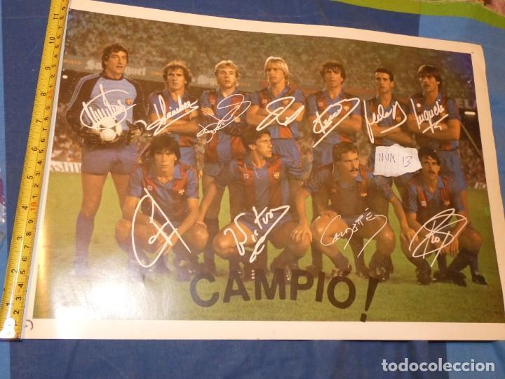 Álbum de fútbol completo: BESTIAL FOTO 44 X 30 DOBLE CARA MARADONA Y EQUIPO BARCA TODO AUTOGRAFIADO PRECIOSO OBJETO - Foto 2 - 227549425