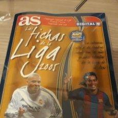 Caderneta de futebol completa: ALBUM LAS FICHAS DE LA LIGA 2005 DE AS. COMPLETO. Lote 227833511