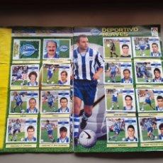 Álbum de fútbol completo: ALBUM COMPLETO LIGA ESTE 99 00 1999 2000 CON NANO SIN PEGAR CON 538 CROMOS. Lote 230497365