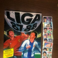 Album de football complet: ALBUM FUTBOL LIGA ESTE 87-88 COMPLETO 1987-1988 BUEN ESTADO CON 9 DOBLES SIN PEGAR. Lote 231027345