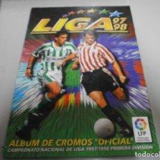 Álbum de fútbol completo: ALBUM LIGA 97 98 DE ESTE MUY COMPLETO VER FOTOS DE TODAS LAS HOJAS. Lote 233357840