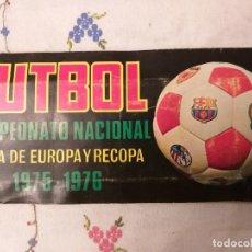 Album de football complet: ALBUM LIGA 1975-76, COPA DE EUROPA Y RECOPA, ED RUIZ ROMERO, COMPLETO. Lote 233443705