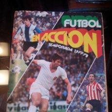 """Álbum di calcio completo: FUTBOL EN ACCIÓN TEMPORADA 1977-78 """"""""COMPLETO"""""""". Lote 234453180"""