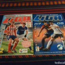 Álbum de fútbol completo: ESTE LIGA 07 08 2007 2008 COMPLETO. REGALO ESTE LIGA 14 15 INCOMPLETO CON TODOS LOS FICHAJES. MBE.. Lote 235016864