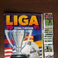 Caderneta de futebol completa: ALBUM LIGA ESTE FUTBOL 90-91 COMPLETO CON 56 DOBLES SUELTOS 1990-1991 FALTAN 20 PARA TODO LO EDITADO. Lote 235289900