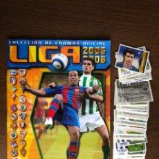 Álbum de fútbol completo: ALBUM LIGA ESTE FUTBOL 05-06 COMPLETO TODO EDITADO 2005-2006 CON 117 DOBLES SUELTOS. Lote 239355620