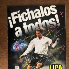 Álbum de fútbol completo: ALBUM FUTBOL LIGA PANINI 2001 FICHALOS A TODOS BOOMER COMPLETO CON 21 DOBLES. Lote 239358335