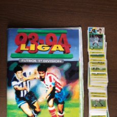Álbum de fútbol completo: ALBUM FUTBOL LIGA ESTE 93-94 COMPLETO CROMOS DE CARTON 1993-1994 CON 84 CROMOS DOBLES SUELTOS. Lote 239359315