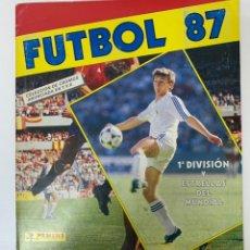 Álbum de fútbol completo: ALBUM COMPLETO LIGA FUTBOL 87 PANINI. Lote 239482320