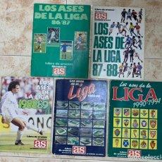 Álbum de fútbol completo: LOTE 5 ALBUMES LOS ASES DE LA LIGA CONSECUTIVOS Y COMPLETOS 86 87 88 89 90 91 . OPORTUNIDAD .. Lote 239492410