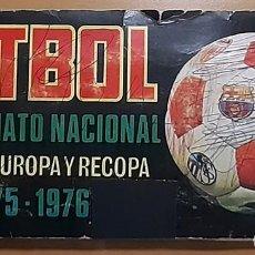 Álbum de fútbol completo: ALBUM 1975 1976 FUTBOL COPA EUROPA RECOPA 75 76 CAMPEONATO NACIONAL LIGA RUIZ ROMERO. Lote 240073945