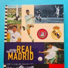 Álbum de fútbol completo: HISTORIA GRAFICA DEL REAL MADRID - LIBRO ALBUM COMPLETO CON SUS 65 CROMOS - AS 1997 - VER FOTOS. Lote 237391535