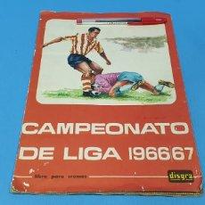 Álbum de fútbol completo: LIBRO PARA CROMOS - CAMPEONATO DE LIGA 1966/67 - DISGRA. Lote 242072530