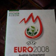 "Álbum de fútbol completo: ""EURO 2008"" ""ESPAÑA CAMPEONA"" ""ORIGINAL NO REEDICIÓN"" ""EXCELENTE ESTADO"" COMPLETO A FALTA SOLO DE 6. Lote 243359860"