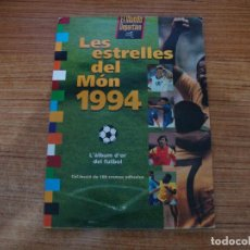 Álbum de fútbol completo: ALBUM CROMOS LAS ESTRELLAS DEL MUNDO 1994 LES ESTRELLES DEL MON 1994 ROOKIE RONALDO Nº 88 COMPLETO. Lote 244796145