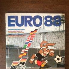 Álbum de fútbol completo: ALBUM PANINI FUTBOL EURO EUROCOPA 88 COMPLETO MUY BUEN ESTADO SIN RESULTADOS ESCRITOS. Lote 244911775
