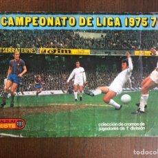 Álbum de fútbol completo: ALBUM FUTBOL LIGA ESTE 75-76 COMPLETO ORIGINAL 1975-1976 CON TODOS LOS FICHAJES MUY NUEVOS. Lote 245069605