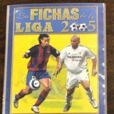 Álbum de fútbol completo: ALBUM LAS FICHAS DE LA LIGA 2005. INCLUYE CROMO DE MESSI DEBUT EN BARCELONA. 665 FICHAS. Lote 245597205