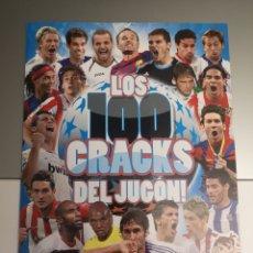 Álbum di calcio completo: ALBUM COMPLETO LOS 100 CRACKS DEL JUGON , EN PERFECTO ESTADO DE CONSERVACIÓN. Lote 246570560