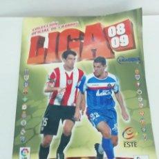 Álbum de fútbol completo: ÁLBUM LIGA COLECCIONES ESTE - 2008 2009 - CROMOS PEGADOS - VER FOTOS - INCLUIDOS MASOUD Y KONKO. Lote 247695195