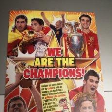 Álbum di calcio completo: ÁLBUM SELECCION ESPAÑOLA WE ARE THE CHAMPIONS REVISTA JUGON. COMPLETO.. Lote 249239085