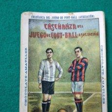 Álbum de fútbol completo: ENSEÑANZA DEL JUEGO DEL FOOT-BALL ASOCIACION. COLECCION COMPLETA DE 25 CROMOS CHOCOLATES AMATLLER. Lote 251788765