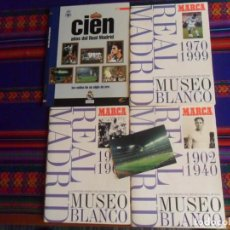 Caderneta de futebol completa: 3 ÁLBUM MUSEO BLANCO COMPLETO CIEN AÑOS DEL REAL MADRID LOS SELLOS DE UN SIGLO ORO VACÍO. CON REGALO. Lote 252501750