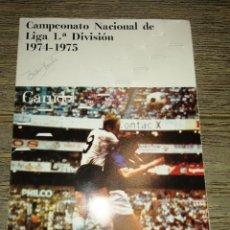 Álbum de fútbol completo: ALBUM FUTBOL TEMPORADA 74 75 RARO PUBLICIDAD CARUDOL. Lote 252807475