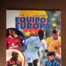 Album de football complet: ALBUM CROMOS PANINI 1996-1997 LOS MEJORES EQUIPOS DE EUROPA 96-97 COMPLETO FULL CON 3 DOBLES. Lote 254072105