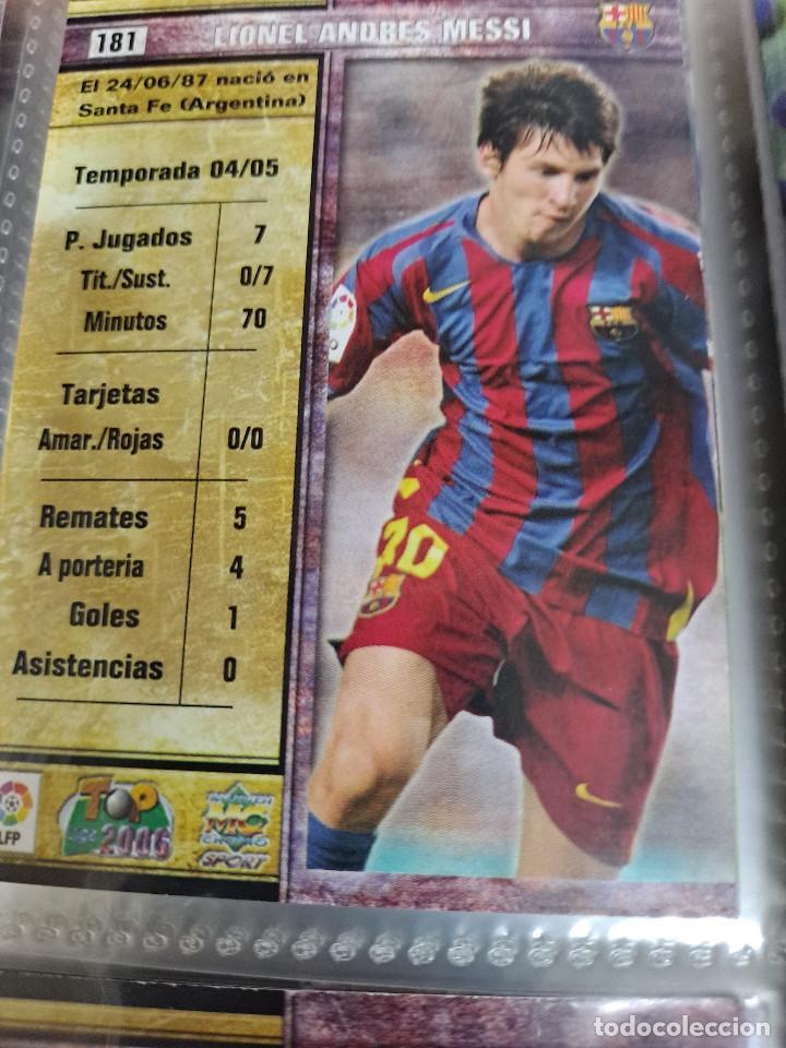 MESSI 2º AÑO DE ROOKIE AÑO 2006 COLECCION TOP 2006 MUNDICROMO COMPLETA (Coleccionismo Deportivo - Álbumes y Cromos de Deportes - Álbumes de Fútbol Completos)
