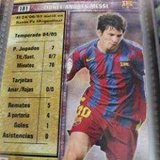 Álbum de fútbol completo: MESSI 2º AÑO DE ROOKIE AÑO 2006 COLECCION TOP 2006 MUNDICROMO COMPLETA. Lote 254087355