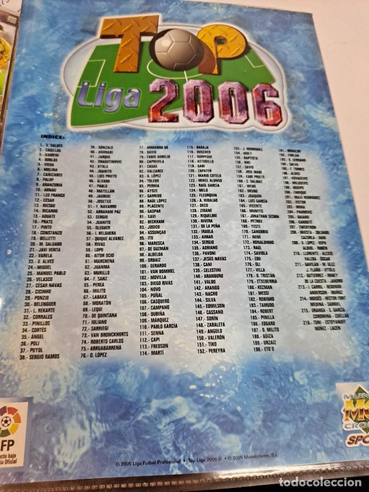 Álbum de fútbol completo: MESSI 2º AÑO DE ROOKIE AÑO 2006 COLECCION TOP 2006 MUNDICROMO COMPLETA - Foto 2 - 254087355