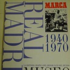 Álbum de fútbol completo: ÁLBUM DE CROMOS DE FÚTBOL. MUSEO BLANCO REAL MADRID CF 1940 A 1970. COMPLETO. 320GR. Lote 254646335
