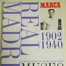 Álbum de fútbol completo: ÁLBUM DE CROMOS DE FÚTBOL. MUSEO BLANCO REAL MADRID CF 1902 A 1940. COMPLETO. 320GR. Lote 254646355