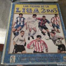 Álbum de fútbol completo: MUNDICROMO 2003- CASI COMPLETO ( CON LAS DOS CARDS ROOKIE DE F. TORRES, ETC.) LEER. Lote 260317140